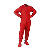 All in One Fleece Sleepsuits - Red (Extra Large)