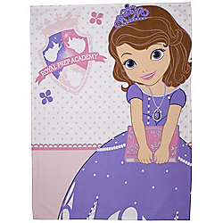 Disney Sofia the First Academy Panel Fleece Blanket