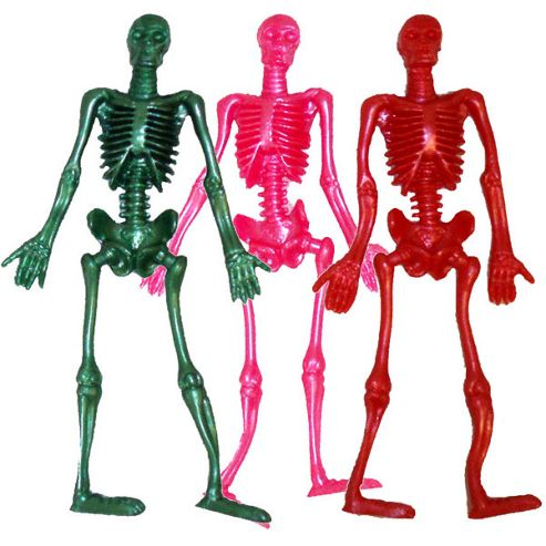 Halloween Party Stretch Skeleton- asst colours (each)
