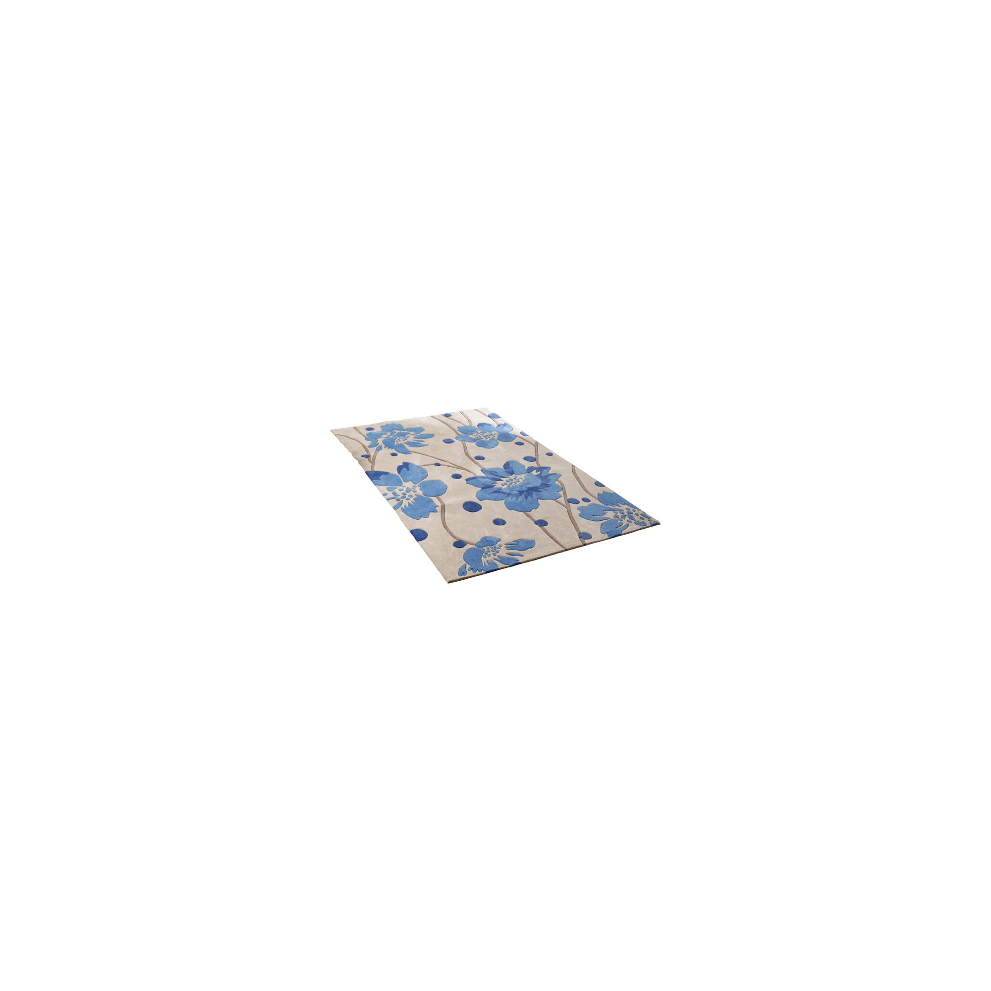 Oriental Carpets & Rugs Hong Kong Beige/Blue Tufted Rug - 150cm L x 90cm W