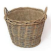 Log Basket Lined