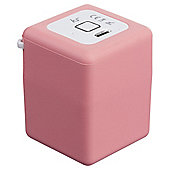 Kitsound Shot Portable Rechargeable Bluetooth Speaker Pink