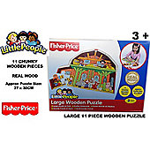Fisher Price Little People Shaped 11 Piece Jigsaw Puzzle Game