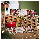 Tartan Cracker Luxury Christmas Cards, 10 pack