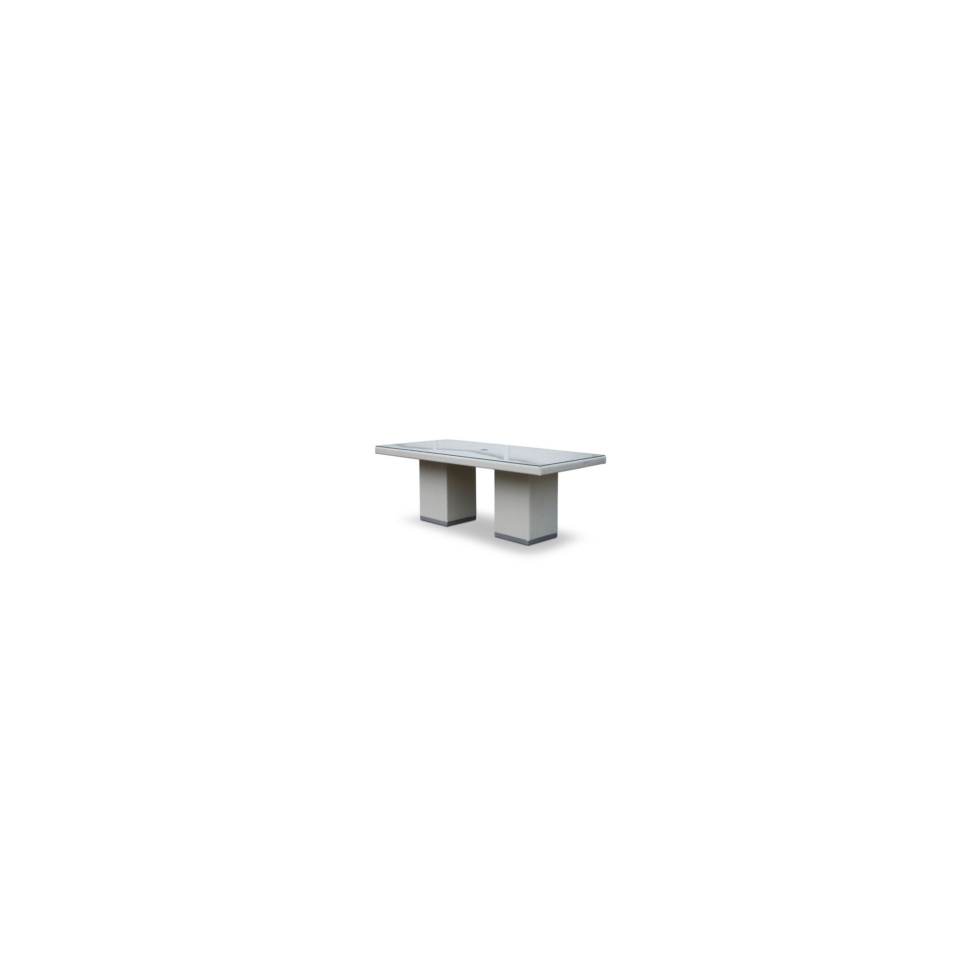 SkyLine Design Pacific Dining Table 6/8 Seat - Super White 10mm - None at Tesco Direct