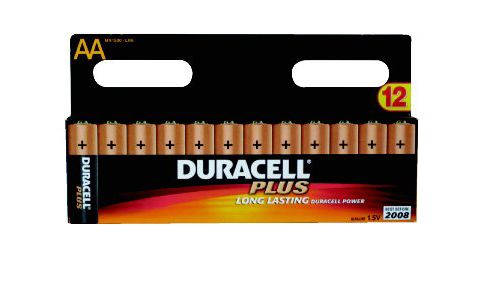 Duracell Plus Long Life AA Alkaline Batteries 8 Pack