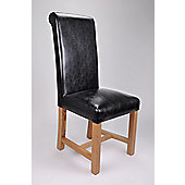 Shankar Enterprises Richmond Oak Dining Chair - Black