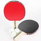 2 x Adidas Vigor 120 Table Tennis / Ping Pong Bats And 3 Training Balls