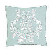 Julian Charles Delphine Soft Green Jacquard Filled Cushion -45x45cm