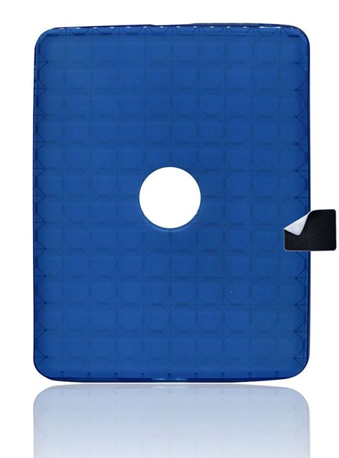 U-bop Stamp WIPE and gSHELL Tough All Body Case Smoke Blue - For Apple iPad 2