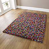 Oriental Carpets & Rugs Pebbles Multi Knotted Rug - 170cm L x 120cm W