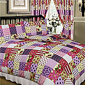 Patchwork Single Bedding - Berry