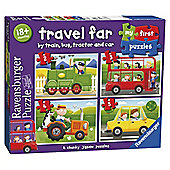 Ravensburger My First Puzzle, Travel Far (2, 3, 4 & 5 Piece) Puzzle