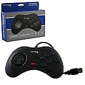 USB SEGA Saturn Classic Controller - Black - PC