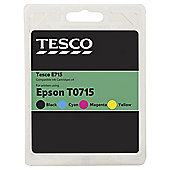 Tesco E715 Multipack (Compatible with printers using Epson T0715 ink cartridge)