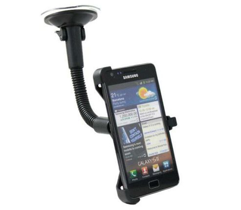 iTALKonline Made To Measure Rotating Suction Mount Holder - For Samsung i9100 Galaxy S II S2