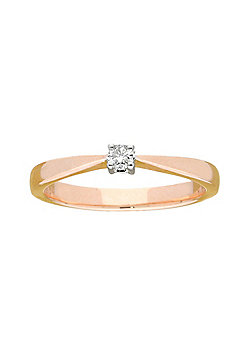 9ct Gold 0.10 Carat Solitaire Diamond Engagement Ring