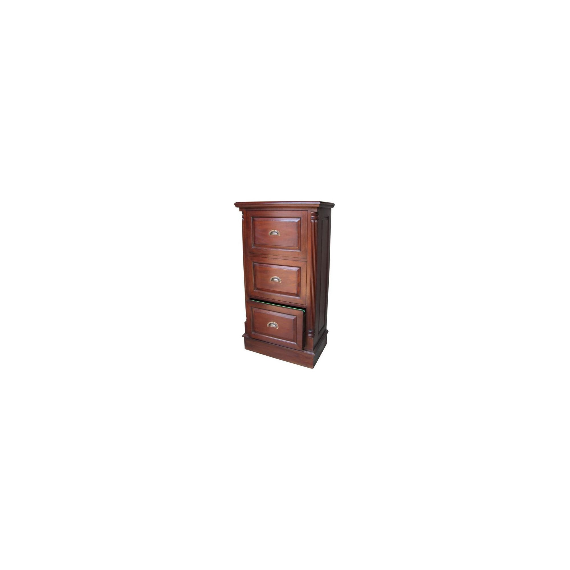 Lock stock and barrel Mahogany 3 Drawer Filing Cabinet with Antique Handles in Mahogany at Tesco Direct