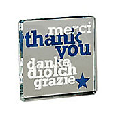Spaceform Multi Language Thank You Mini Solid Glass Keepsake