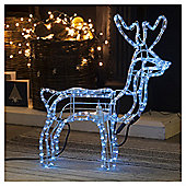 Animated Rope Light Reindeer