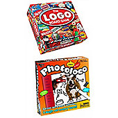 Board Game Bundle - The Logo Game And Photoloco - 2 Items Supplied