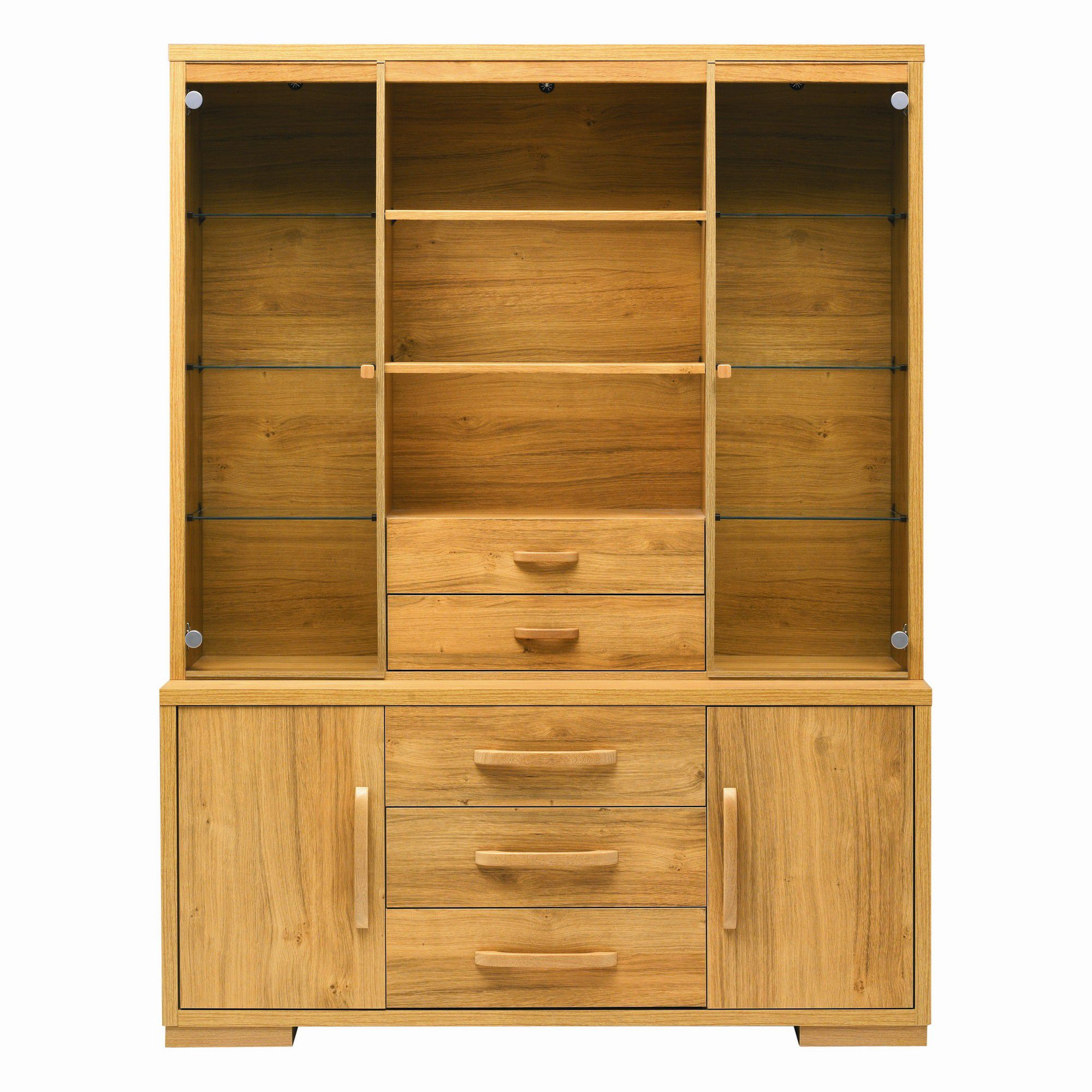 Caxton Strand Open Display Cabinet in Oak at Tescos Direct