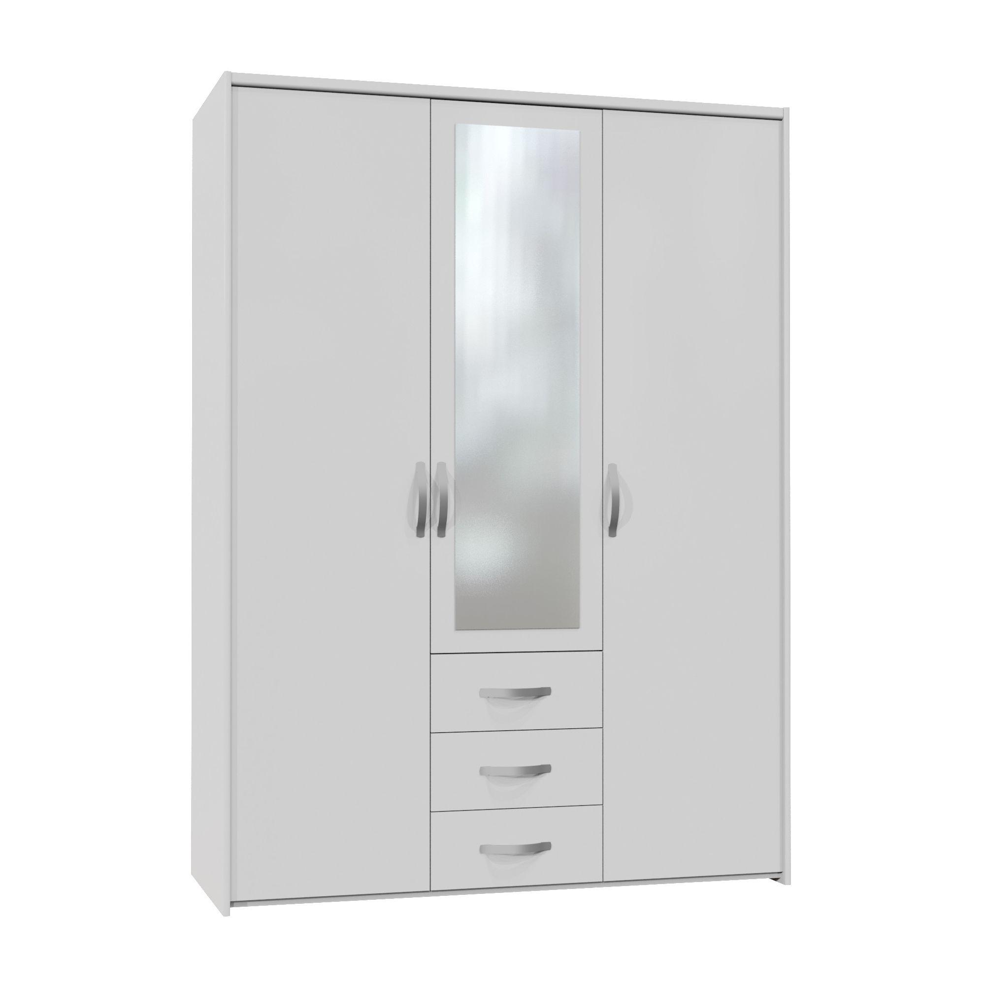 Altruna Now 3 Doors Wardrobe - White at Tesco Direct