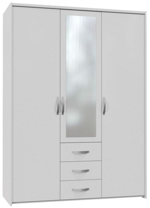 Altruna Now 3 Doors Wardrobe - White
