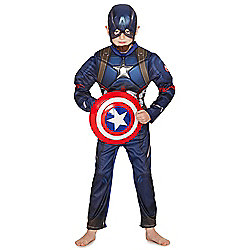 Marvel Avengers Assemble Captain America Dress-Up Costume years 09 - 10 Blue