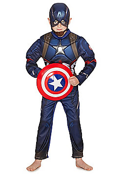 Marvel Avengers Assemble Captain America Dress-Up Costume - 9-10 yrs