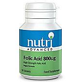 Nutri Ltd Folic Acid 800ug 90 Tablets