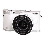 "Samsung NX300 Digital Camera, White, 20MP, 3.2"" LCD Screen, Wi-Fi, 20-50mm Lens Kit"