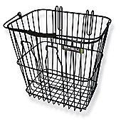 Basil Rear Milkbottle Bike Basket w/ Nylon Grip Handle Black