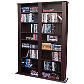 Techstyle Multimedia CD / DVD Storage Shelves - Dark Oak