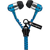 Champion Zipper Earphones - Blue