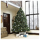 Festive 10ft Pre-lit Colorado Spruce Christmas Tree with warm white LED lights