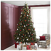 Festive Pre-Lit Colorado Spruce Christmas Tree With Warm White LED Lights, 10ft