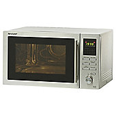 Sharp R82STMA 25L 900W Combination Microwave With Grill & Convection Oven - Silver