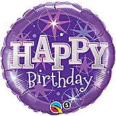 18' Birthday Purple Sparkle (each)