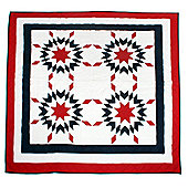 Woven Magic Patriotic Star New England Crib Throw