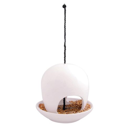 Fallen Fruits Ceramic Birdfeeder, White