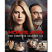 Homeland: Season 1-4 Blu-ray