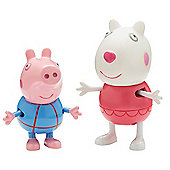 Peppa Pig Holiday Figure Double Pack - Suzy & George