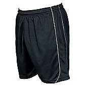 Precision Mestalla Shorts Men'S Football Shorts Training Sportswear - Black & White