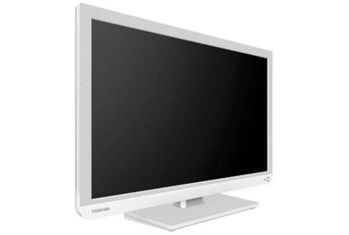 TOSHIBA 22 INCH LED HD READY TV WITH BUILT IN DVD PLAYER 1XHDMI PC INPUT - WHITE