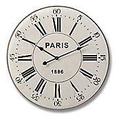 Black on Cream Metal Paris Clock