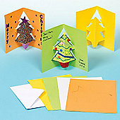 Christmas Crafts Tree Pop-out Cards (8 Pcs)