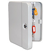 Helix Standard Key Safe Steel with Cylinder Lock and Fixings 20 Key Ref WR0020