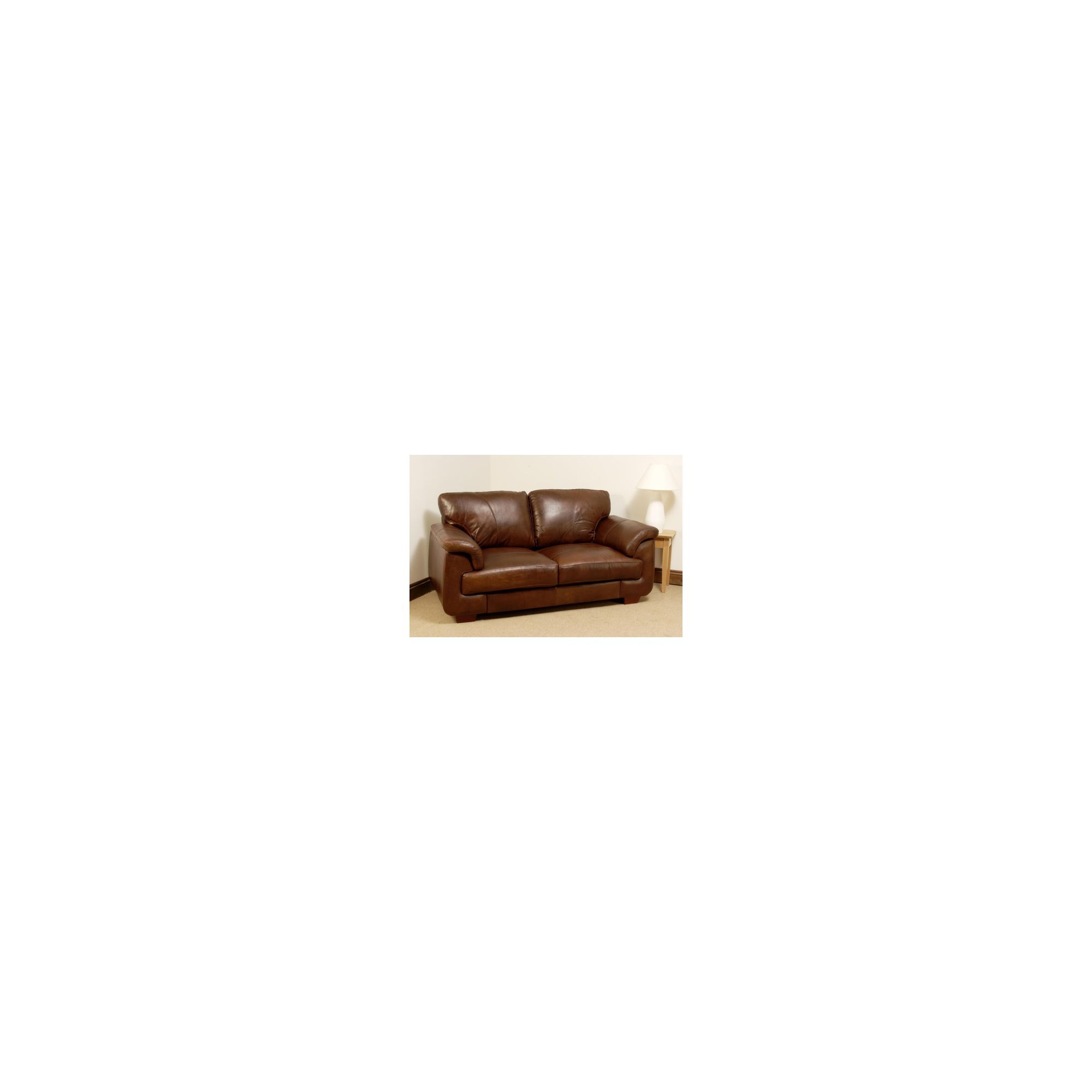 Hawkshead Isabella Aniline Leather Two Seater Sofa at Tesco Direct