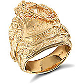 Jewelco London 9ct Solid gold heavy weight Saddle Ring